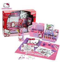 Hello Kitty凯蒂猫缤纷文具套装 女孩儿童画画学习绘画工具礼盒