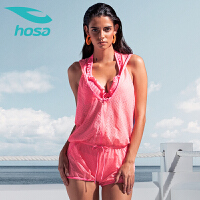 浩沙分体泳衣女三件套 夏季遮肚性感温泉泳衣 小胸聚拢比基尼