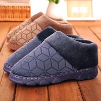 男士棉拖鞋冬季加厚保暖情侣家居家用棉鞋全包跟厚底室内防滑老人