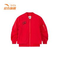 【3折价140.7】安踏童装女小童梭织薄外套儿童运动外套36919660