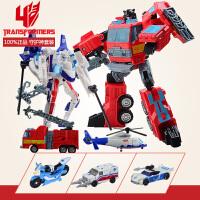 孩之宝变形金刚机器人玩具 领袖之证3人组合警车 救护车,守护神2只装A7779 守护神3只装 A7780