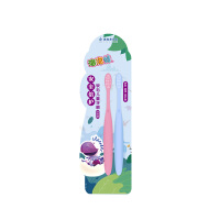 美加净 泡泡娃宝贝儿童牙刷*2支装 细软毛宝宝小孩小刷头牙刷套装包邮