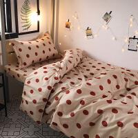 北欧简约波点被罩四件套床上用品1.5学生宿舍单人床单被罩三件套k