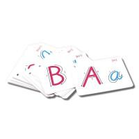 学生学习 26字母学习卡片标准手写英语字母儿童学习卡片字母早教卡各种尺寸
