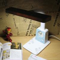 LED护眼台灯 带闹钟卧室床头学生学习节能宿舍阅读插电