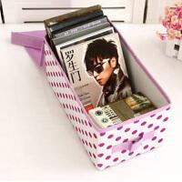 博纳屋 圆舞曲CD收纳盒游戏光碟收纳盒 桌面文件杂志收纳盒箱 杂志收纳箱光盘盒葡萄紫