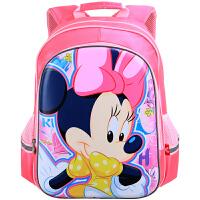迪士尼(Disney)米妮儿童书包 D12006B 玫红色 女压模书包1-4年级卡通小学生书包 当当自营