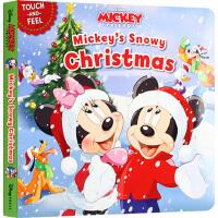 圣诞节绘本 Mickey & Friends Mickey's Snowy Christmas 米奇的圣诞节 英文原版