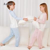 【1件5折价:134.5】安奈儿童装男童女童睡衣套装2021新款春夏薄款家居服洋气空调衫