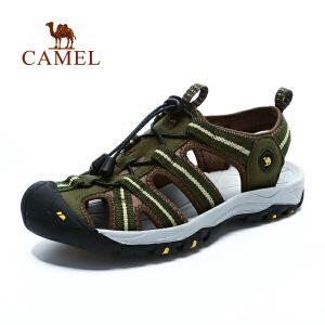 camel骆驼户外男款沙滩鞋 春夏新款耐磨轻便凉鞋猪笼鞋沙滩鞋
