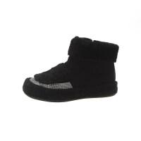 2018秋冬季新款加绒保暖雪地靴毛口亮片短靴绒面侧拉链学生加棉鞋