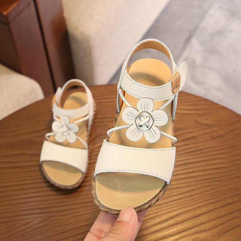 童鞋夏季女童花朵凉鞋透气软底男女童凉鞋