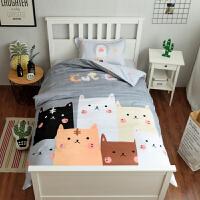 纯棉三件套男孩学生宿舍1.2m床品单人儿童可爱床单上下铺被套1.0mV定制 1.0m( 3.3英尺 )床