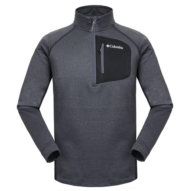 【清仓】Columbia哥伦比亚男装 秋冬新品男款户外休闲舒适耐磨立领抓绒衣AE1163