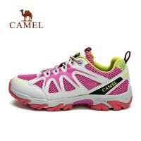 camel骆驼户外登山鞋 男女款透气耐磨 低帮系带徒步登山鞋