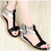 新款女鞋韩版平跟凉鞋女平底女士休闲鞋子百搭学生1050