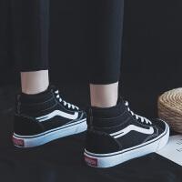 棉鞋女2018冬季新款高帮加绒帆布鞋韩版百搭学生二棉鞋保暖板鞋潮