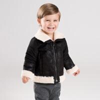 【加绒】davebella戴维贝拉童装冬季新款男童宝宝保暖外套DB11627