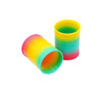 塑料弹簧圈卡通彩虹圈玩具七彩虹叠叠乐儿童魔力呼拉圈弹力圈塑料 彩虹圈1个
