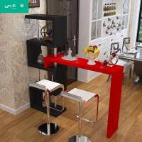 家用吧台客厅创意酒柜简易隔断柜玄关简约酒吧台厨房旋转小吧台桌