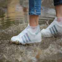 防雨鞋套男女硅胶鞋套防水雨天加厚防滑耐磨底儿童户外鞋套