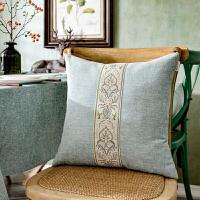 北欧美式中式欧式现代水蓝灰色咖啡红色靠垫靠枕靠背抱枕汽车沙发定制
