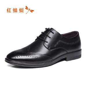红蜻蜓男鞋商务休闲皮鞋秋冬鞋子男WTA8446