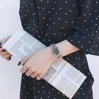 ins链条手表学生方形复古气质韩版简约潮流ifashion金属链手表女