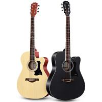 单板吉他初学者学生女男民谣吉他40寸41寸新手入门木吉他乐器
