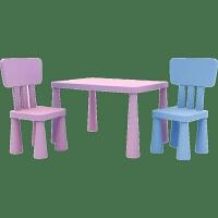 小孩子宝宝玩具学习桌套装塑料小椅子家用桌子增高 幼儿园儿童桌椅宝宝游戏玩耍桌子套装一桌两椅