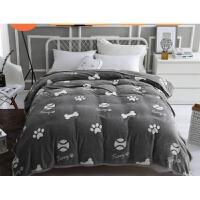 四季款毛毯被子珊瑚绒毯子法兰绒毛毯学生加厚毛绒保暖床单四季毯k 白色 简式之途-灰