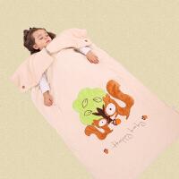 婴儿睡袋宝宝春秋冬款幼儿童小孩加厚薄款防踢被神器四季通用被子 松鼠