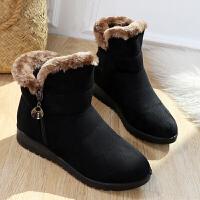 冬季老北京布鞋女棉鞋加绒加厚保暖雪地靴软底防滑平底短靴女棉靴