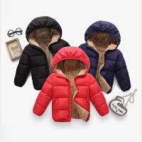 童装秋冬新款加绒儿童羽绒宝宝加厚外套中小童小孩羊羔绒棉袄