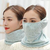 口罩女秋冬季骑车防风防尘口罩女保暖防寒冬天护耳罩护脸护脖面罩