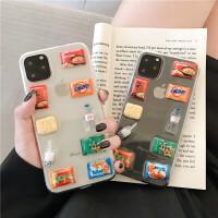 韩国ins超市方便面iphone11promax苹果x手机壳xsmax立体透明软壳苹果8plus创意7plus防摔6p