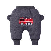 婴儿加绒大裤子冬装婴儿棉裤双层保暖高腰长裤冬季男宝宝哈伦裤