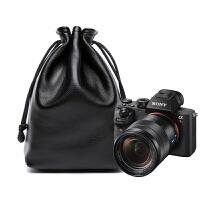 索尼sony A7R2单反相机包皮套A7R3 A9收纳包袋微单牛皮内胆包便携