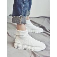 袜子鞋女高帮运动鞋2018秋季新品弹力透气韩版百搭袜鞋