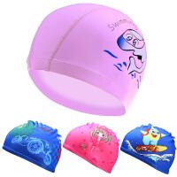 儿童泳帽布材质游泳帽小孩泳帽男童女童通用宝宝泳帽
