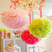 孩派 儿童宝宝生日派对装饰布置用品道具 纸花球 纸拉花