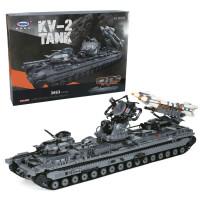 军事系列小颗粒立体拼插拼装积木穿越火线飞机坦克大炮武器模型人仔兼容乐高男女孩儿童玩具礼物 星堡积木KV-2坦克XB06