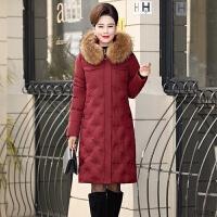中老年羽绒服女2018新款中长款加厚40岁50冬装韩版宽松妈妈装外套
