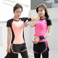 跑步运动服套装女夏薄款瑜伽服女网红两件套夏天健身房速干衣套装