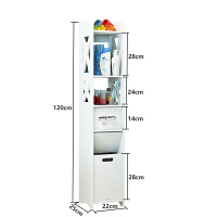 卫生间收纳柜 多功能 马桶边柜侧柜洗手间卫生间落地储物柜防水厕所收纳架子