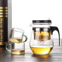 飘逸杯全过滤耐热玻璃花茶杯办公室按压内胆花茶具套装家用泡茶壶
