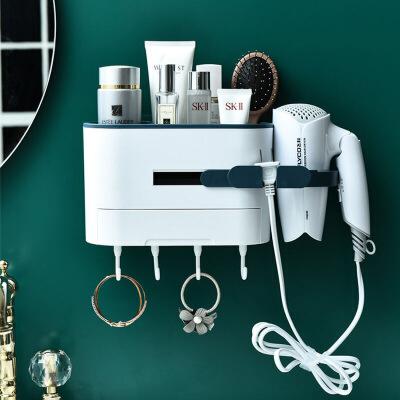 吹风机架免打孔卫生间壁挂浴室神器厕所洗手间墙上无痕贴置物架