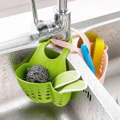 居家家 水槽沥水收纳挂架水龙头沥水架 厨房用品水池收纳架置物架