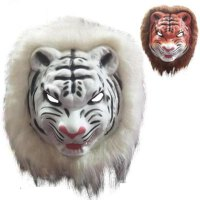 恐怖�游锩婢擢{子老虎狼猩猩猴子豹子面具�和�玩具