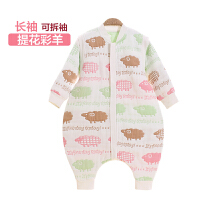 婴儿睡袋春秋薄款四季1-2-3-6岁月纱布宝宝分腿儿童防踢被子